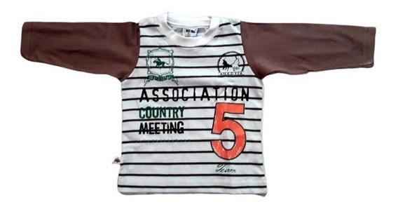 Camiseta Molekada Manga Longa Tam. P M G Bebê 1 2 3 Anos