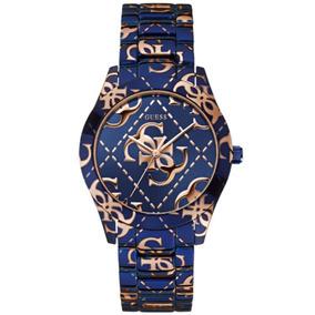 Relógio Feminino Guess 92547lpgsea1 Analógico Azul Rosé