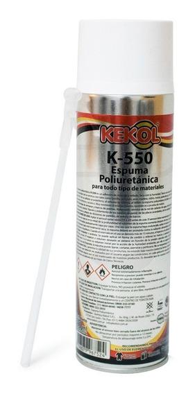 Sellador Poliuretano Expandido Espuma Aerosol Kekol K 500ml