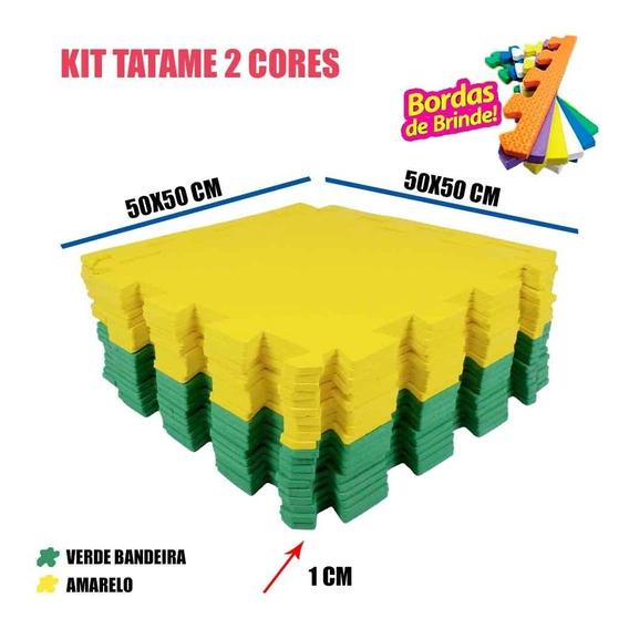 Tapetinho Infantil 20 Peças Verde E Amarelo 50x50x01cm