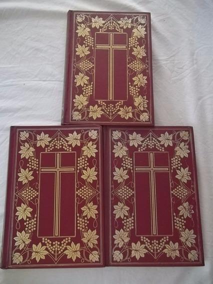 Livro A Bíblia Sagrada Antigo E Novo Testamento 3 Volumes