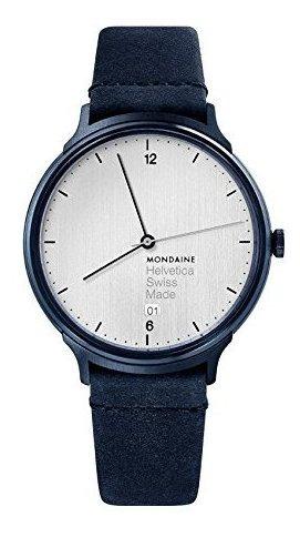 Mondaine Helvetica Reloj De Cuarzo Suizo De Acero Inoxidable