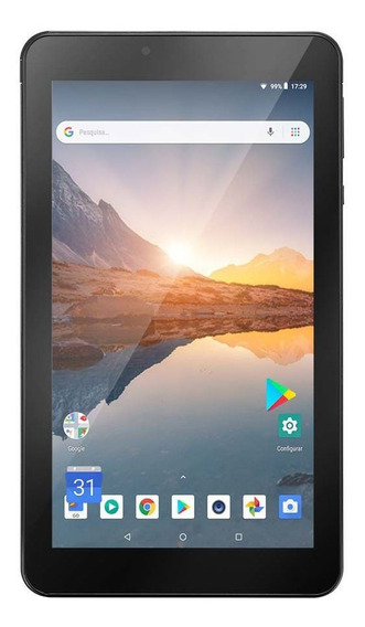 Tablet Multilaser M7s Plus + Wifi E Bluetooh Quad Core - Nb298 Preto