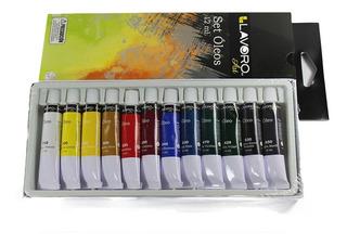 Set De Pintura Óleo 12 Colores