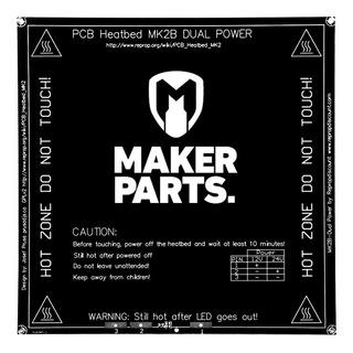 Mesa Cama Caliente Mk2 12v/24v Impresora 3d Prusa +termist