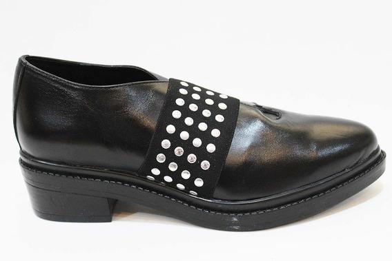 Zapato Bajo Mujer Cuero Tachas Art 33. Marca San Marino