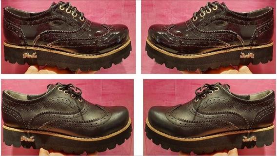 Zapato Mocasín Acordonado Acharolado U Opaco