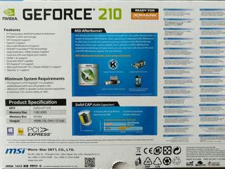 Tarjeta De Video Nvidia Geforce 210 1gb Ddr3 Nueva