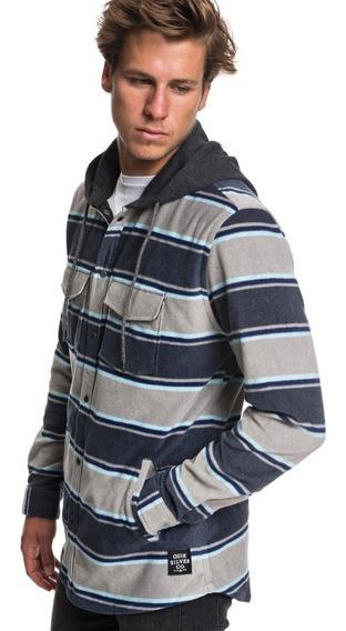 Quiksilver Camisa C/ Capucha M/lg Hombre Surf Days Hood Azul