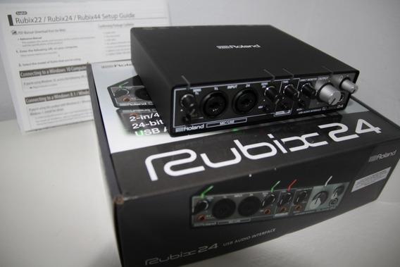 Usb Audio Interface Roland Rubix24 Placa De Som