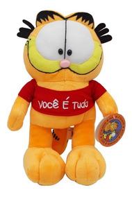 Pelúcia Gato Garfield Médio 23 Cm Você É Tudo - Bbr