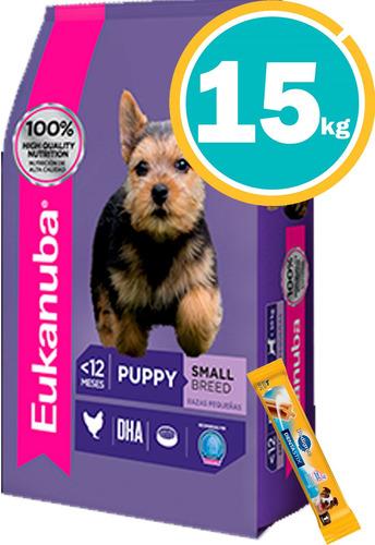 Imagen 1 de 7 de Eukanuba Cachorro Raza Chica 15kg + Dentastix + Envío