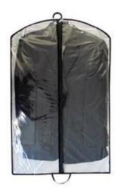 Kit 15 Capa Plastica Protetora Para Roupas C/ Zíper Antimofo