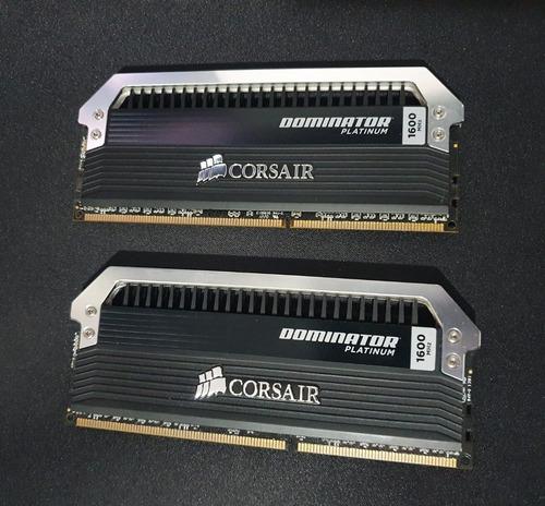 Imagem 1 de 7 de Corsair Dominator Platinum 16gb (2x 8gb), Ddr3, 1600mhz