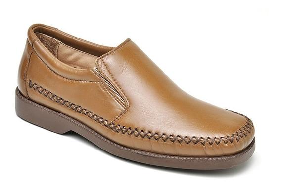 Sapato Masculino Couro Mestiço Barato Palmilhagel +carteira