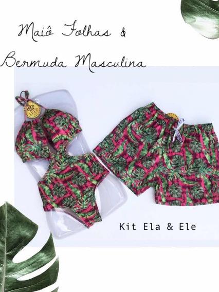 Maiô & Shorts Masculino Kit Ela & Ele