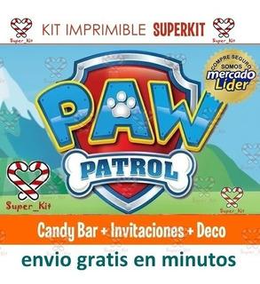 Kit Imprimible Patrulla Canina Paw Patrol Economico