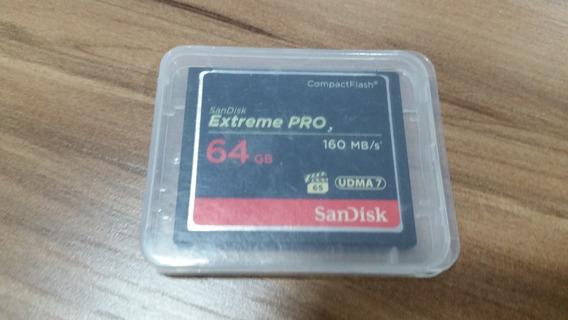 Cartão Memória 64gb Sandisk Extreme Pro Compactflash 160mb/s
