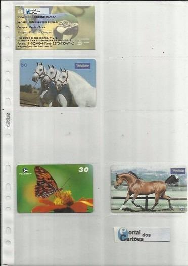 50 Folhas Refil Porta Cartões Telefone + 50 Cartões Brinde