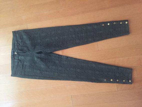 Pantalones Zara Verde Kaki