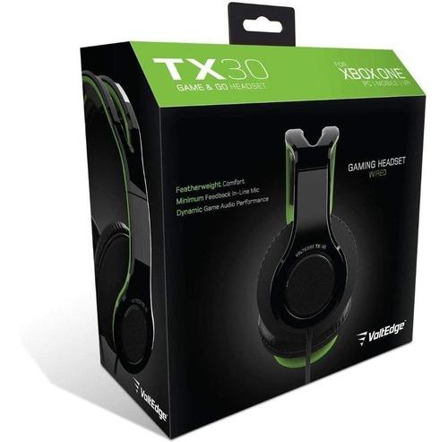 Imagen 1 de 6 de Headset Tx-30 Xbox One Voltedge ( Garantía De Por Vida )