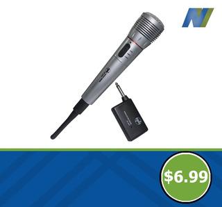 Micrófono Inalámbrico Y Cableado 2 En 1