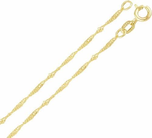 Corrente Cordão Cingapura 45cm Folheado A Ouro 18k