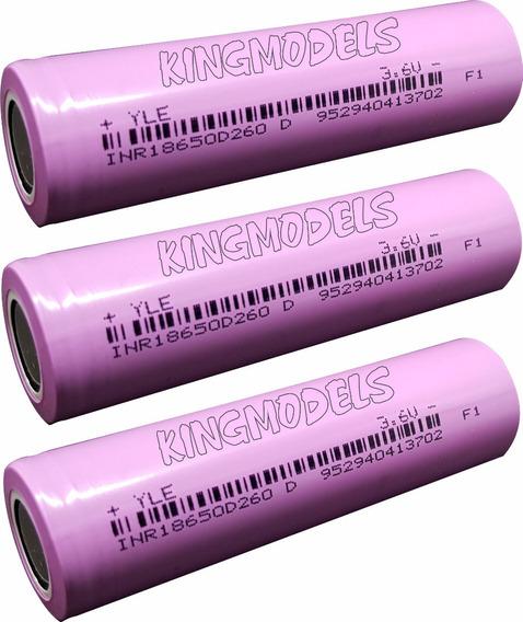 3xpçs Bateria Li-ion 18650 - Rontek - 2600mah - 10a + Brinde