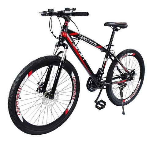 Imagen 1 de 2 de Mountain bike Centurfit MKZ-CFBICDEP R26 21v color rojo con pie de apoyo