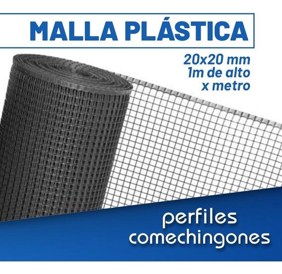Malla Plástica Negra 20x20 Mm 1 X 1 Metro -cba-