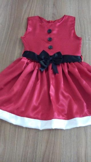 Vestido Natalino Para Crianças De 4 A 6 Anos