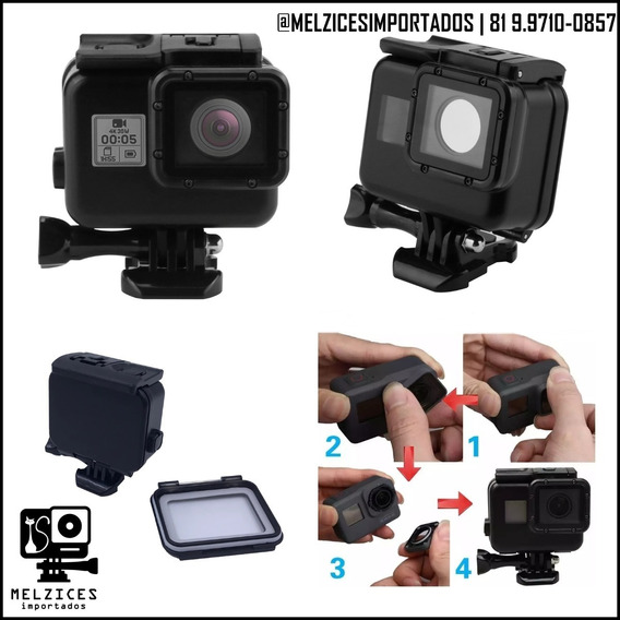 Caixa Estanque Para Gopro Hero 5,6,7 E 2018 40m Waterproof