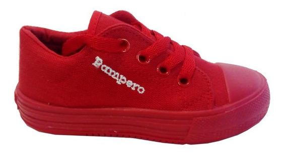 Zapatillas Lona Escolar Marca Pampero Modelo Lau 924105003