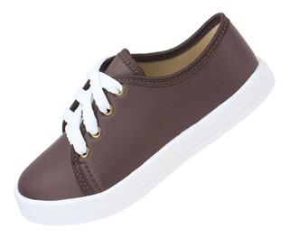 Tênis Infantil Masculino Moda Sapato Sapatenis Branco Escola