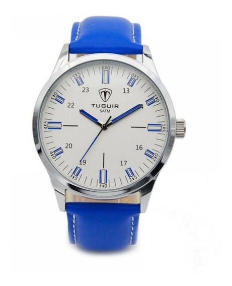 Relógio Masculino Tuguir Analógico 5005 Azul Aprova D