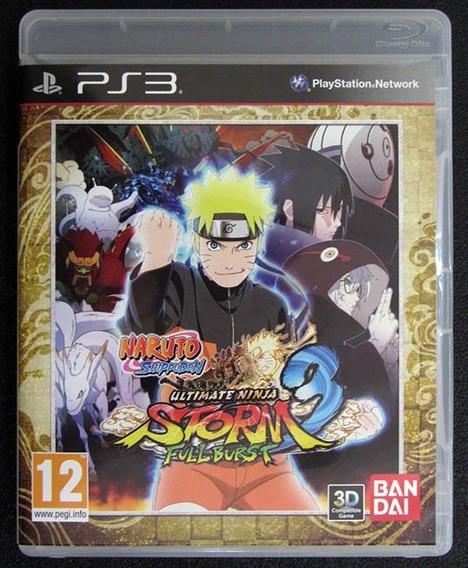 Naruto Ultimate Ninja Storm 3 Full Bust Midia Física - Ps3 Usado