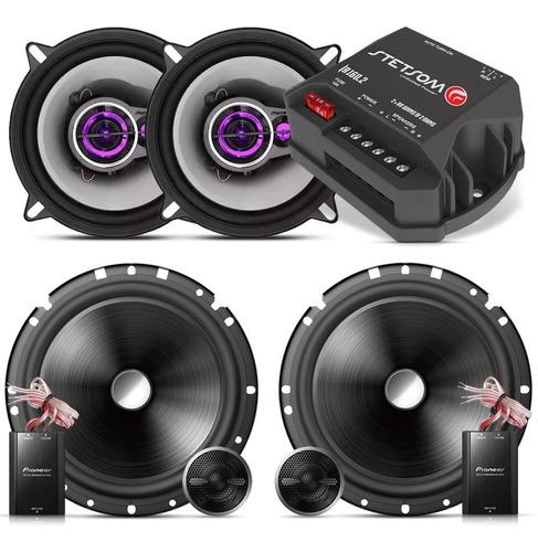 Imagem 1 de 7 de Kit Som Pioneer + Falante 2 Vias 6 + Boca 5 + Amplificador