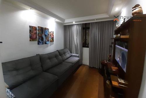Apartamento Com 3 Dormitórios À Venda, 109 M² Por R$ 635.000 - Vila Gilda - Santo André/sp - Ap1059