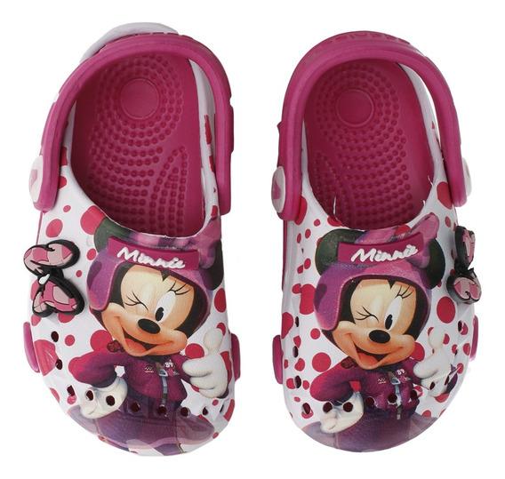 Sandalias Addnice Clog Baby Minnie Dots Bebe Bl/fu