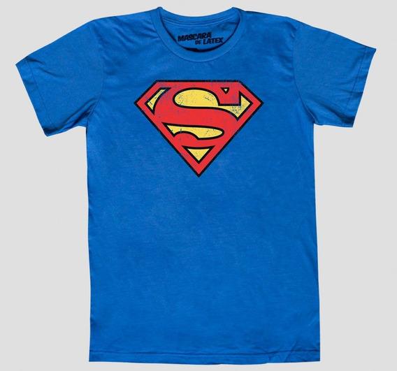 Playera Superman Logo Mascara De Latex