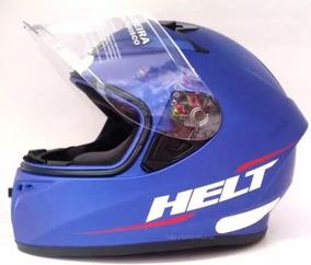 Capacete Helt Polar Azul Parecido Com Helt New Race