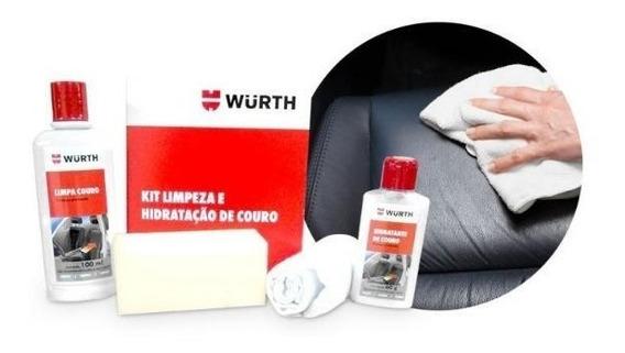 Kit Para Limpar Hidratar Banco Bolsa Jaqueta De Couro Wurth