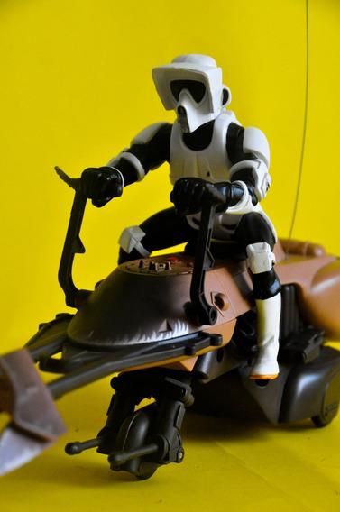Star Wars, Biker Scout, Speeder Biker, Controle Remoto ,36 C