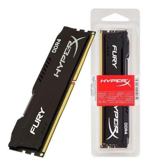 Memória Kingston Hyperx Fury 8gb Ddr4 2400mhz Black