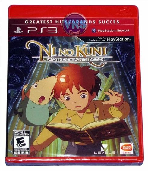 Ni No Kuni Wrath Of The White Witch - Playstation 3 -lacrado