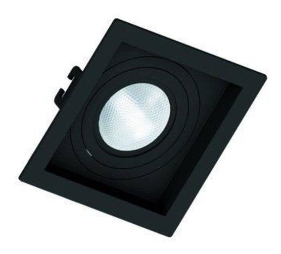 Spot Embutir Recuado Preto Par 20 Save Energy