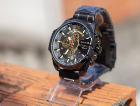 Relógio Diesel 10 Bar Pulseira De Aço Promoção +frete Gratis