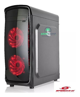Case Gamer Pc Translúcido 4 Ventiladores Led Incluidos