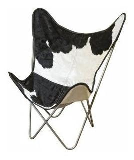 Sillon Bkf - Cuero - Pelo De Vaca - Funda Y Estructura
