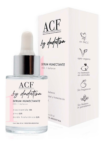 Acf By Dadatina Serum Humectante Niacinamida Balance 30ml